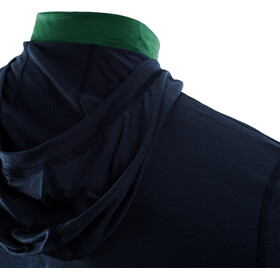 Aclima LightWool Hættetrøje Herrer, blå/grøn